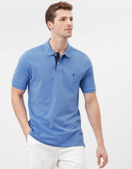 Joules Woody Classic Polo Shirt Blue