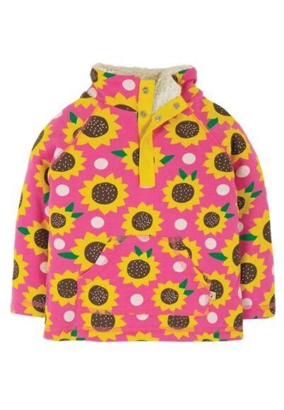 Frugi Little Snuggle Fleece Flamingo Sunflowers
