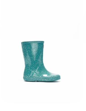 Hunter Original Kids First Giant Glitter Wellies Blue Spruce