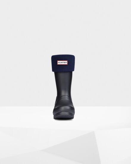 Hunter Kids Welly Boot Socks Navy