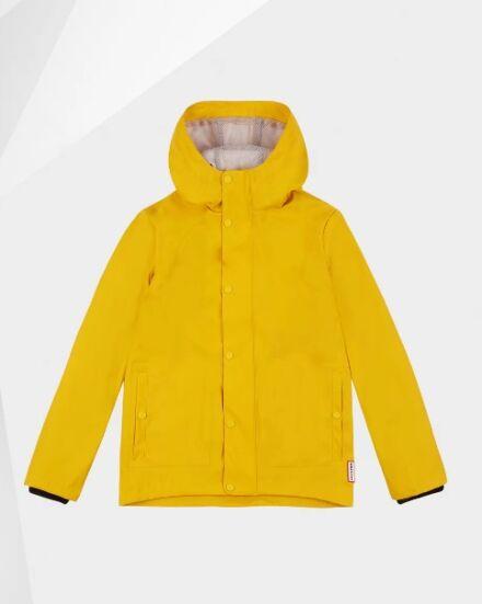 Hunter Original Kids Lightweight Waterproof Jacket Yellow