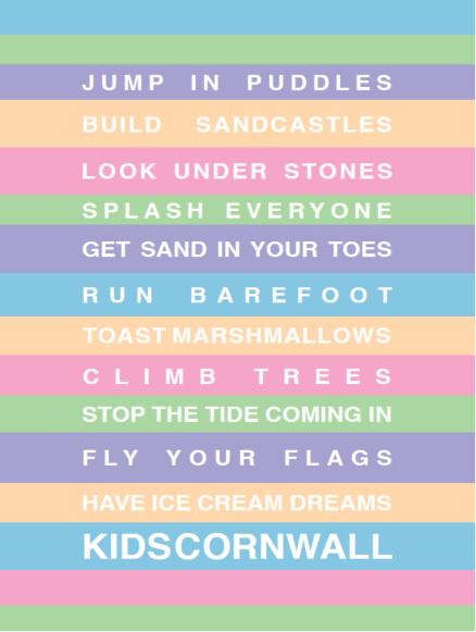 SeaKisses Kids Cornwall Print