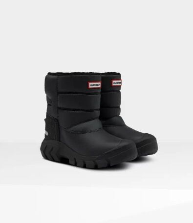 Hunter Kids Original Snow Boot Black