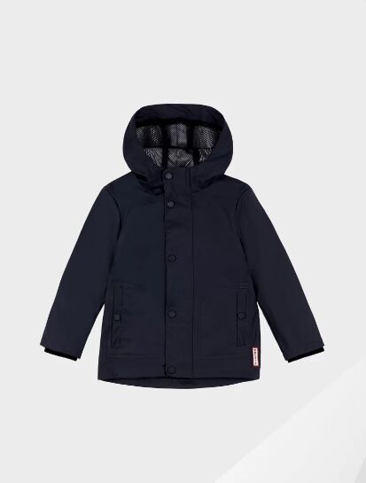 Hunter Original Little Kids Lightweight Waterproof Jacket Navy