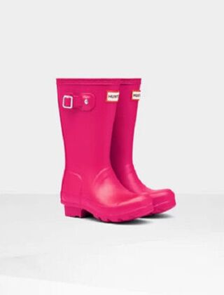 Hunter Kids Original Wellington Boots Bright Pink