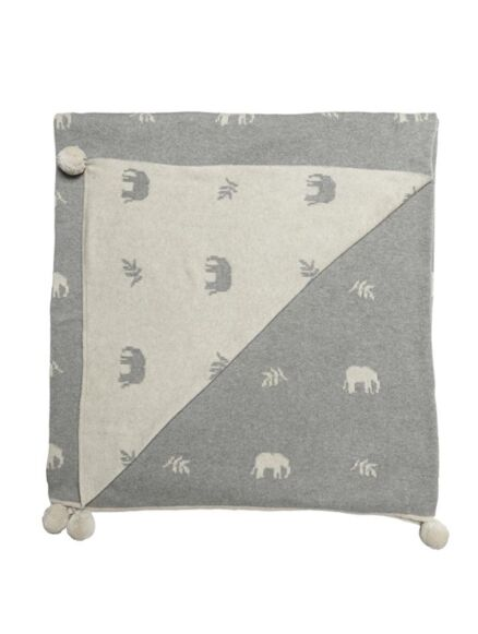 Sophie Allport Elephant Knitted Throw
