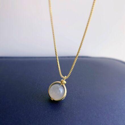Crystolver Labradorite Pendant Gold Necklace