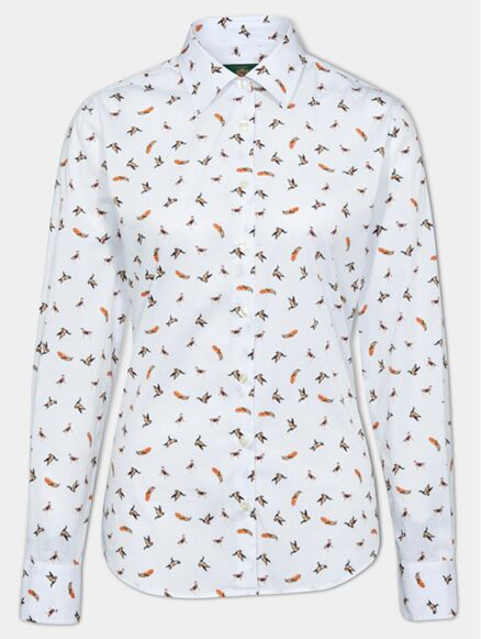Alan Paine Lawen Womens Printed Shirt Dog & Duck
