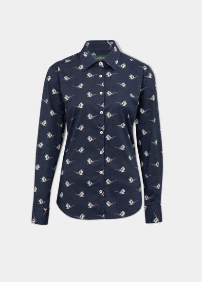Alan Paine Lawen Womens Printed Shirt Pheasant