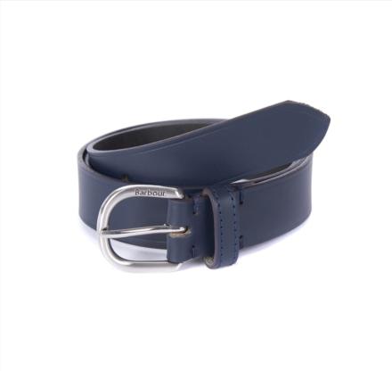 Barbour Women's Leather Belt Navy