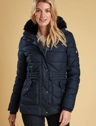 Barbour Langstone Quilted Jacket Navy Clearance