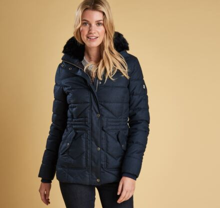 Barbour Langstone Quilted Jacket Navy