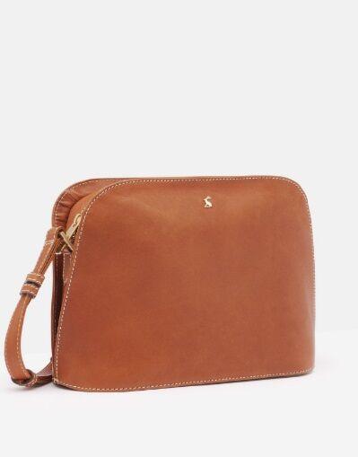 Joules Langton Dome Leather Cross Body Bag Tan