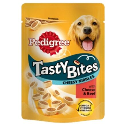Pedigree Tasty Bites Cheesy Nibbles With Beef & Cheese