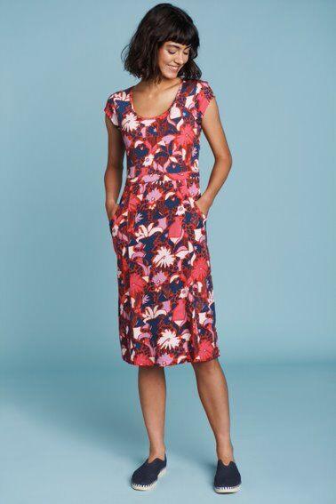Mistral Large Lily Print Dress Blue Ribbon