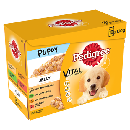 Pedigree Puppy Pouches In Jelly 12 x 100G