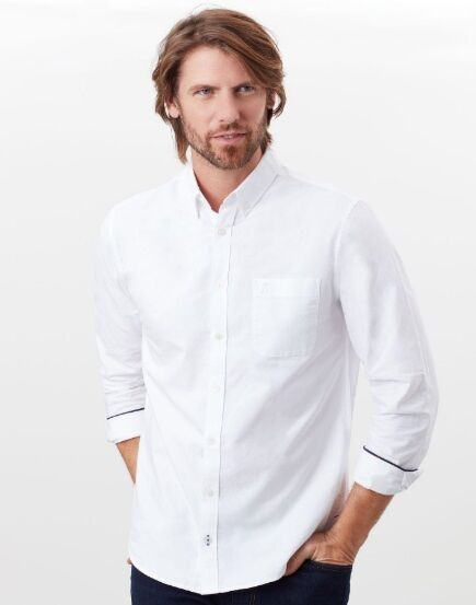 Joules Laundered Oxford Long Sleeve Shirt White