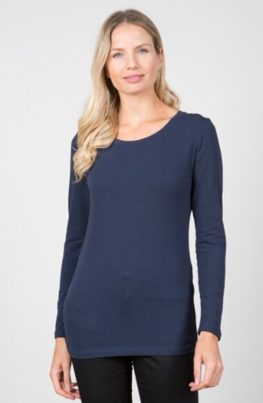 Lily and Me Layering Tee Plain Navy
