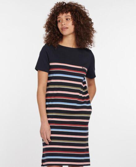 Barbour Hawkins Dress Navy Stripe