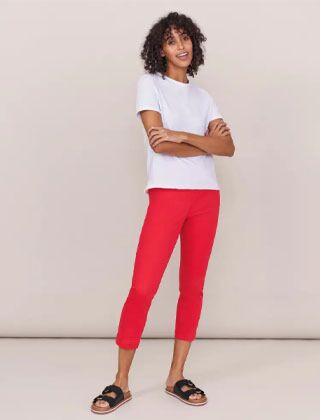 White Stuff Isla Cropped Jegging Deep Pink