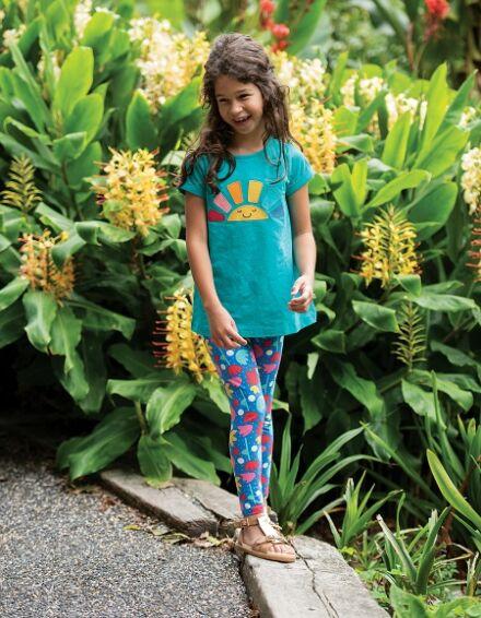 Frugi Libby Printed Leggings Lotus Bloom