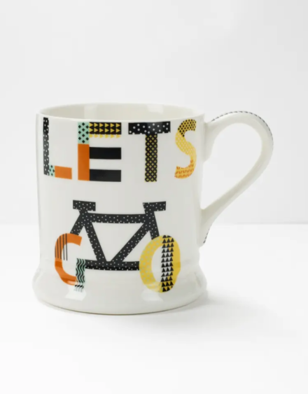 White Stuff Lets Go Slogan Mug Multi