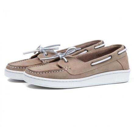 Barbour Miranda Boat Shoes Stone