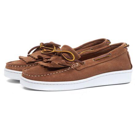 Barbour Klara Boat Shoes Cognac