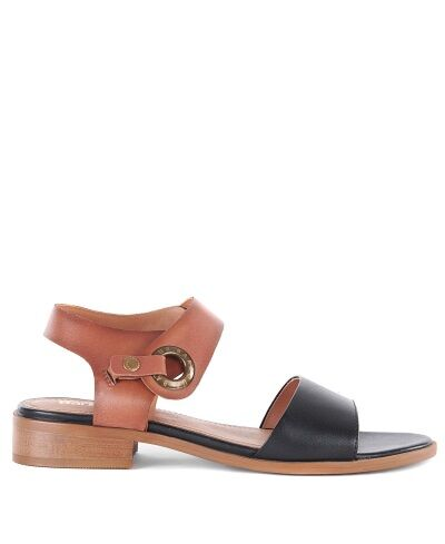 Barbour Lucy Sandals Tan/Black