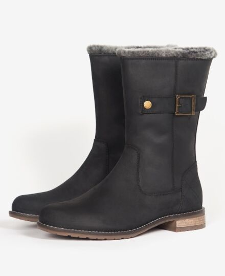 Barbour Clare Mid-Height Boots Black