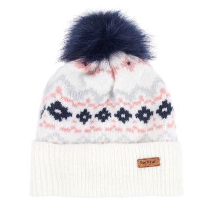 Barbour Roseberry Fairisle Beanie Hat Cloud