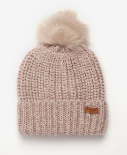 Barbour Rothbury Beanie Pale Pink