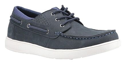 Hush Puppies Liam Lace Up Boat Shoe Navy