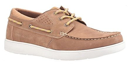 Hush Puppies Liam Lace Up Boat Shoe Camel