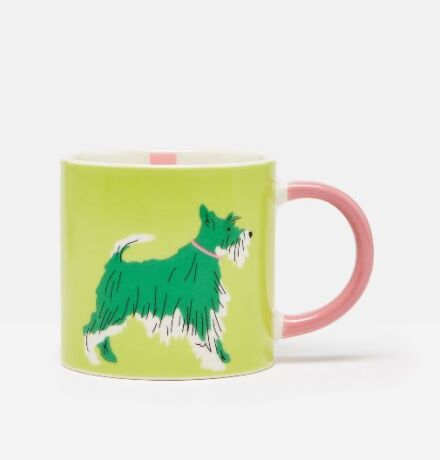 Joules Light Green Dog Mug