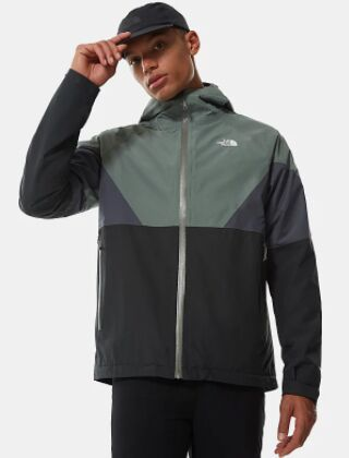 The North Face Lightening Jacket Asphalt Grey - Agave Green