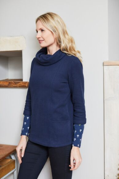 Lily and Me Bathwick Top Plain Navy