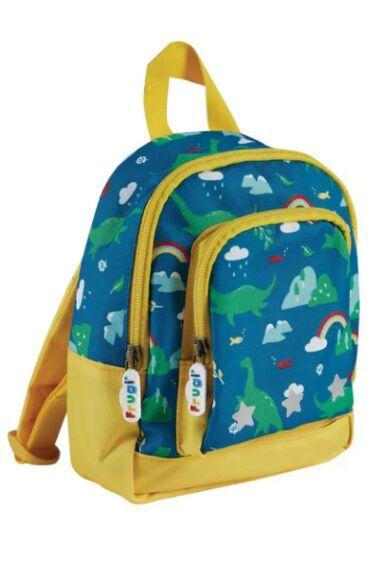 Frugi Little Adventurers Backpack Loch Blue Nessie