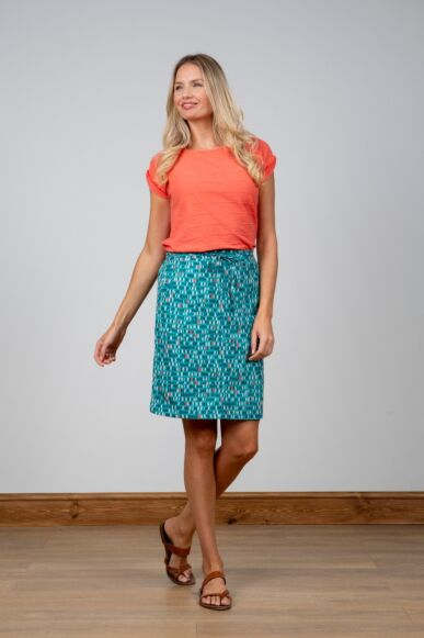 Lily and Me Everyday Linen Skirt Dark Teal
