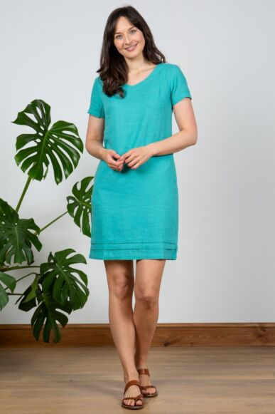 Lily and Me Shift Dress Plain Turquoise