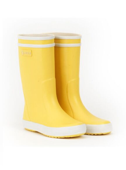 Aigle Lolly Pop Children's Wellington Boots Jaune/Blanc