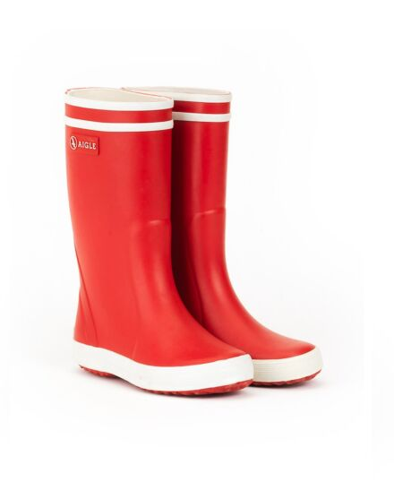 Aigle Lolly Pop Children's Wellington Boots Rouge/Blanc