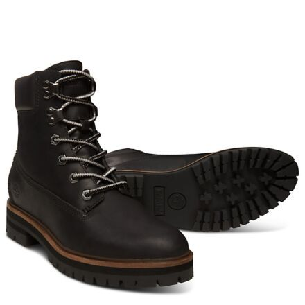 "Timberland Women's London Square 6"" Boot Black Full Grain"