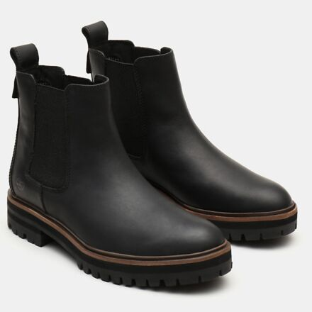 Timberland Women's London Square Chelsea Boot Black Full Grain