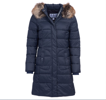 Barbour Bridled Quilted Jacket Navy