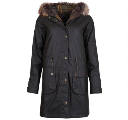 Barbour Mull Waxed Cotton Jacket Olive