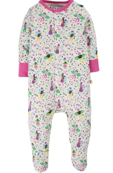 Frugi Lovely Babygrow Multi Fairy Friends