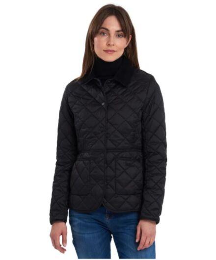 Barbour Deveron Quilted Jacket Black/Olive