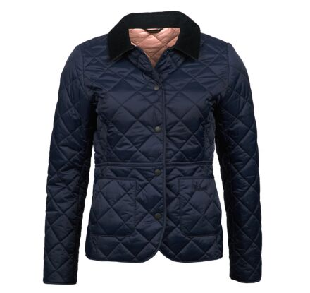 Barbour Deveron Quilted Jacket Navy/Pale Pink