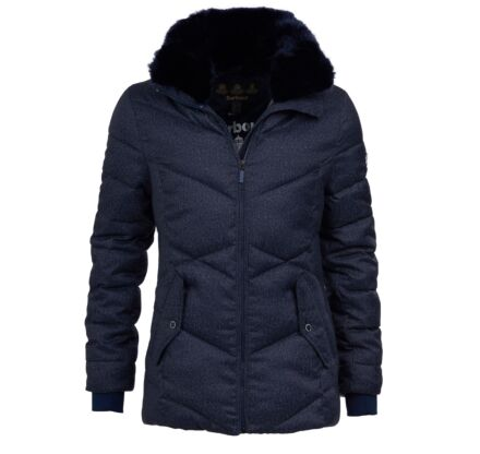 Barbour Scuttle Quilted Jacket Navy Marl/Navy